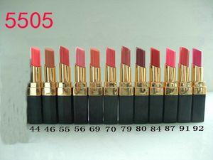 12 unids / lote NUEVA Marca Maquillaje Cosméticos maquillaje Rouge lápiz labial lápiz labial 12 color 3g