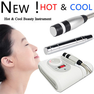 2 em 1 Hot Cryo Sem agulha Electroporation Meso Mesoterapia Cool Skin Hot Anti Facial Aging Skin Care beleza máquina