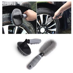 자동차 휠 청소 키트 타이어 림 브러쉬 허브 브러쉬 2PCS 세트 안티 - 슬립 핸들 소프트 와이어 스크럽 자동차 오토바이 자전거 휠 청소