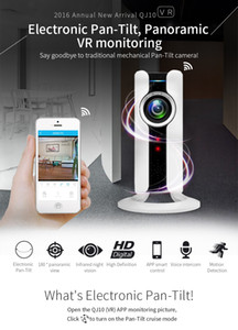 Neue 720 P HD 180 winkel Panorama VR Nachtsicht CCTV Kamera Überwachungskamera Mini WI-FI IP Home sicherheit Kamera Audio Babyphone IP Cam