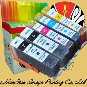 With Chip 5Pack 364XL Ink Cartridge for 364 xl 364XL cartridges for Deskjet 3070A 5510 6510 B209a C510a C309a Printer E192