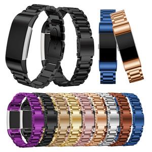 Para Fitbit Charge 2 Correa Reloj de pulsera de acero inoxidable para Fitbit Charge2 Banda Reloj inteligente Reemplazo de la pulsera colorido