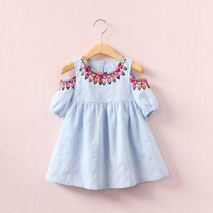 Dress Dress Collar Hot Hollow Girl Kids Selling Shoulder Off Kids Round 2021 Sleeveless Elegant Summer Out Back INS Xjkas