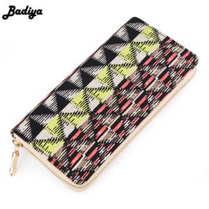 새로운 Badiya 꽃 여성 지갑 인쇄 된 휴대용 여성 변경 지갑 지갑 지퍼 패킷 Mutlicolor 신선한 동전 지갑