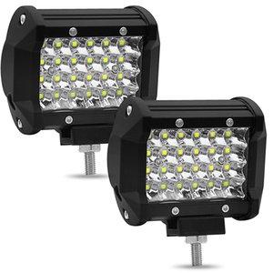 2 stücke 4-zoll led 72 watt auto Dach Streifen licht Refit Geländewagen Lampe auto fahren hilfs lampe 7200lm 6000 karat auto arbeit lichter