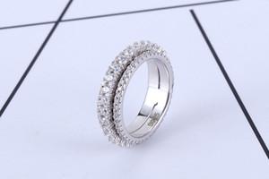 Hommes et femmes européens tournent des anneaux pour transformer des bagues mode zircon couples anneau mix taille 6 # à 9 #