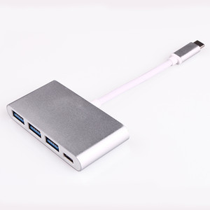 "High Quality Type-c Hub Usb 3.1 to 3.0 Support OTG USB-C 4 in 1 Hub for Macbook 12"" and Google piexl"