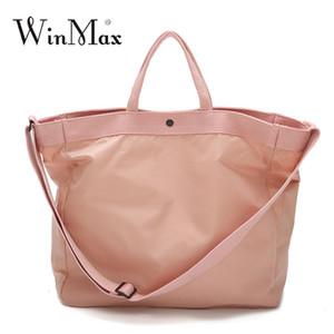 Winmax Reisetasche Nylon wasserdicht Reise Duffle tragbare Reisetasche mit großer Kapazität Gepäck rosa Pack Reisegepäck Veranstalter