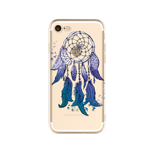 For Apple iPhone 7   8 Design Clear Bumper TPU Soft Case Rubber Silicone Skin Cover for iPhone 7  8 - Dream Catcher-8 sizes