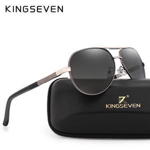 KINGSEVEN бренд мужской алюминиевый магния солнцезащитные очки HD поляризованные UV400 солнцезащитные очки oculos мужской очки Солнцезащитные очки для мужчин N725