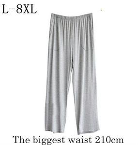 Plus Size L 8XL Pijama Bottoms Pijama Hombre 2018 Verão Outono Homens Soltos Cintura Alta Sleepwear Elastic Modal Soft Lounge Pijamas