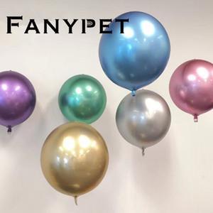10 pc partido unicórnio sem rugas bolha balões lasca cromo balões decorações da festa de aniversário crianças Metálicos Balões