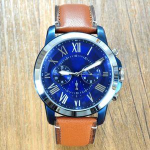 высокое качество известный дизайнер оригинальный кварц кожа montre окаменелости часы для мужчин FS5151 FS5144 FS5146 FS5181 платье наручные часы с коробкой