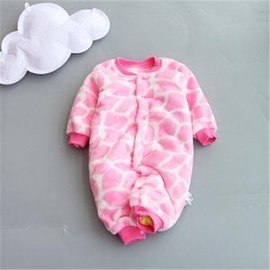BibiCola New Baby Inverno Macacão Macacão de Algodão recém-nascido Grosso Do Bebê Meninas meninos Macacão Quente Outono Desgaste Do Bebê Criança Escalada Vestir