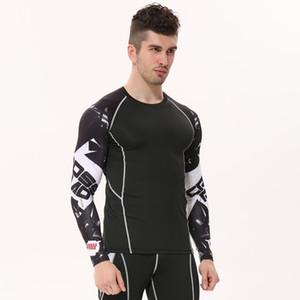 Novos Camisas De Compressão Dos Homens 3d Teen Lobo Jerseys T Camisa de Manga Longa Lycra Homens De Fitness Lycra Mma Crossfit T-Camisas Calças Marca clothing