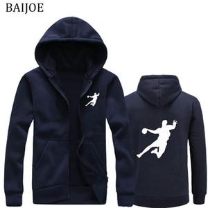 New Hoodies Men Tees Mantenha a calma e jogar andebol masculino hip hop hoodies camisolas mens vestuário com capuz casuais