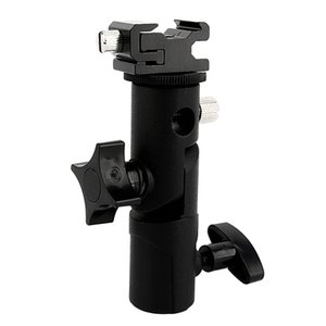 Freeshipping ajustable paraguas Speedlite Hot Shoe Flash Holder Holder para trípode para cámara réflex digital