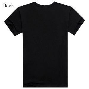 T-shirt da uomo alla moda in stile estivo T-shirt nera T-shirt da uomo Camicia da uomo Cotton Rock Band Stampa hip-hop Tee
