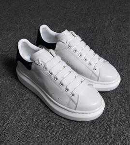 Adam Günlük Ayakkabılar Deri Womens Moda Beyaz Deri rahat ayakkabı Düz Casual Sneaker Günlük Koşu Ucuz Satışa
