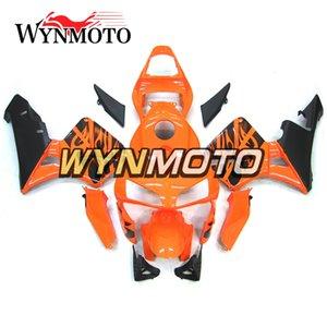 2003-2004 CBR600RR Motocicleta Carenagens Completas Para Honda CBR600RR F5 2003 2004 Plástico ABS Injeção De Laranja Com Decalques Preto Cowlings