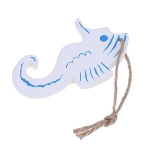 Estilo mediterráneo Hipocampo / Dolphin Wood Crafts Decoración del hogar Pequeño colgante Estilo náutico Adorno de pared