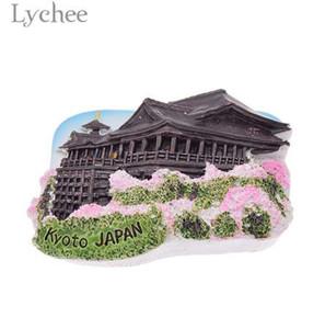 Lychee 3D Kiyomizu Tapınak Buzdolabı Mıknatısı Japonya Peyzaj Buzdolabı Manyetik Sticker Yaratıcı Ev Dekorasyon Seyahat Hediyelik Eşya