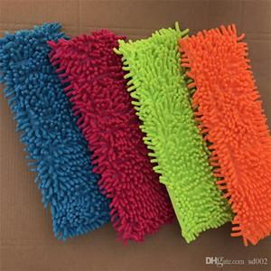 Fundas para fregonas Piso Limpio Pad Absorb de agua Chenille Flat Mop Sleeve Head Reemplazo de repuesto Práctico Hogar Clean Tools 2 94jb X