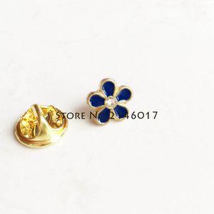 10 pezzi Forget-Me-Not spilla fiore con strass massonica artigianale in metallo di piccole dimensioni massonica su misura spilla spilla distintivo