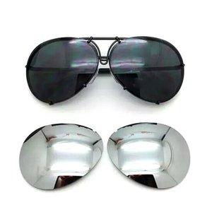 2018 occhiali da sole intercambiabili 8478 di vendita calda degli occhiali sostituibili occhiali da sole aeronautici di protezione UV400 di modo degli uomini o delle donne