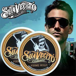 Serin Suavecito kafatası tasarım Geri Güçlü Stil Saç Balmumu İskelet Slicked Saç Yağı Balmumu Çamur Erkekler ve kadınlar için Saç Pomad Tutun