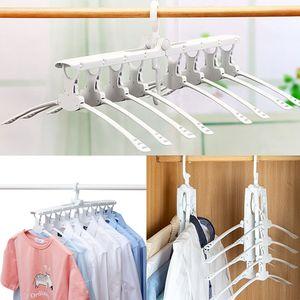 Vente en gros 1 PCS 8 en 1 Multifonctionnel Vêtements Magic Hanger Closet Organizer Hanger Cabinet Séchage Manteau Rack Home Organization