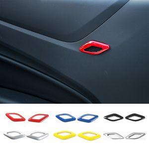Крышка динамика двери автомобиля громкоговоритель ABS декоративное кольцо для Chevrolet Camaro 2017+ авто аксессуары для интерьера