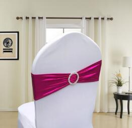 finished edge spandex lycra chair bands elastic chair sash with buckle for wedding free shipping