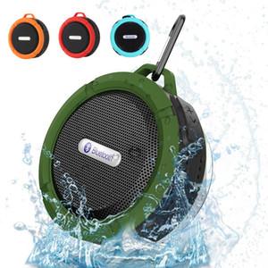소매 패키지와 방수 블루투스 스피커 야외 샤워 C6 무선 자동차 휴대용 서브 우퍼 스피커 사운드 박스 흡입 컵
