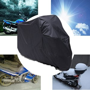 Cubierta impermeable de la motocicleta Sun All Season Black para Honda Kawasaki Yamaha Suzuki Harley Cubierta duradera King Electra Glide de Harley Road