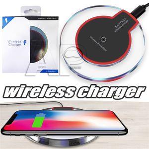 Qi Wireless-Ladegerät aufladen für Samsung S9 S6 Rand s7 Rand s8 Plus iphone 8 X High Efficiency Pad mit Kleinpaket