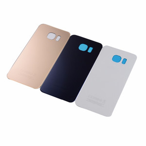 New Back Cover Rear Battery Cover Back Glass Door For Samsung S6 S6 edge plus G920f G925f G928f Housing Back Battery Cover
