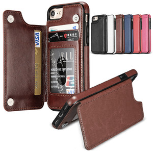 Credit Card Slot Fall für S10 S8 PLUS S9 PLUS PU-Leder-Schlag-Abdeckungs-Fall für iPhone 11 PRO MAX XS MAX XR XS 7 8 6 Plus mit OppBag