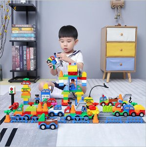 Building Blocks Plastic Digital Box 106 digital train car building blocks kids toys Children's Educational Intelligence Safe Environmental