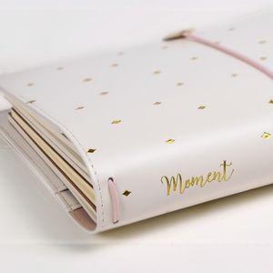 Lovely journal intime à Girlfrend, TN Standard Journal Travler Notebook, spirale PU épaisse poche planificateur agenda