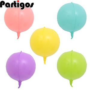 20pcs 22inch 4D macaron palloncino candy color creativo di compleanno forniture decorazione archi disposizione del partito palloncino di nozze