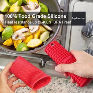 Silikon-heiße Handgriff-Abdeckung hitzebeständige starke Silikonpotentiometer-Halter-Küche-Werkzeug-Silikon-rutschfeste Panhandgriff-Mittelteil-Isolierung