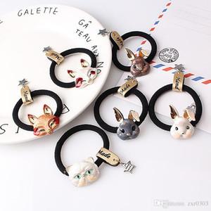 Cartoon Headwear Rubber Band Accessori per capelli donna scrunchy metallo animale fascia ragazze gomma per capelli fascia elastica per capelli