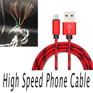 USB cables trenzados de 1 m 2 m 3 m Tipo C de 0,25 m Cable de datos para Samsung Sony Móvil