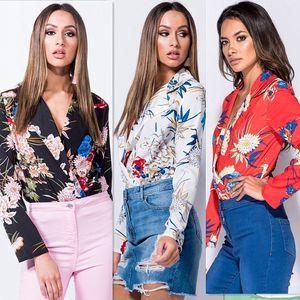 Imprimer Floral Sexy Body Femmes Barboteuse Eté 2018 Combinaison Pour Élégant Court Bodycon Combinaison Noir Body Suit Femme Combinaisons