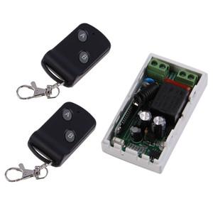 315 MHz sans fil AC220V 1CH 2 boutons émetteur récepteur + 2 contrôleurs de module de commutation de télécommande Émetteur-récepteur RF