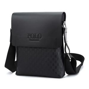 Nuovo modo di arrivo affari PU uomini Messenger Borse promozionali piccolo Crossbody borsa a tracolla uomo casual