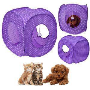 Pet Cat Tunnel Tent Toy Pieghevole 3 fori Prodotti per animali Articoli per gatti per giocattoli per gatti Tunnel House Beds Mats Rabbit Fun Gioca ai giochi