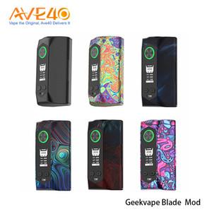 Authentique Geekvape lame 235W TC Box Mod Powered By Double 18650 20700 21700 Batteries électriques / TC / TCR / VPC / dérivation Modes