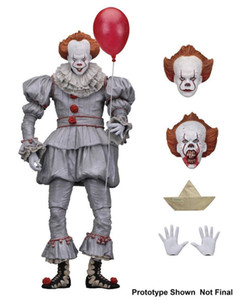 wholesale NECA clown returning soul IT clown returning soul 7-inch movable Movie Figures pvc material free shipping